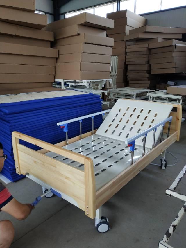 木床头单摇护理床